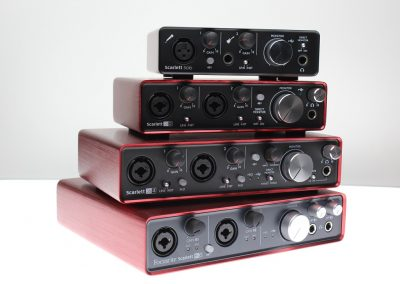Top 13 interfete audio pana in 1000 de lei - Focusrite Scarlett