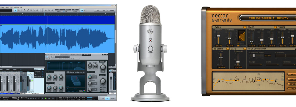 Soft de inregistrare Presonus Studio One - microfon Yeti Studio - soft procesare vocala Nectar Elements