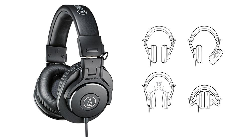 Casti de studio - Audio Technica ATH M30X