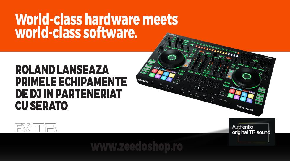 Roland lanseaza primele echipamente de DJ in parteneriat cu Serato