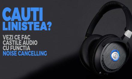 Casti audio cu noise cancelling – la ce sunt bune si cand se folosesc?