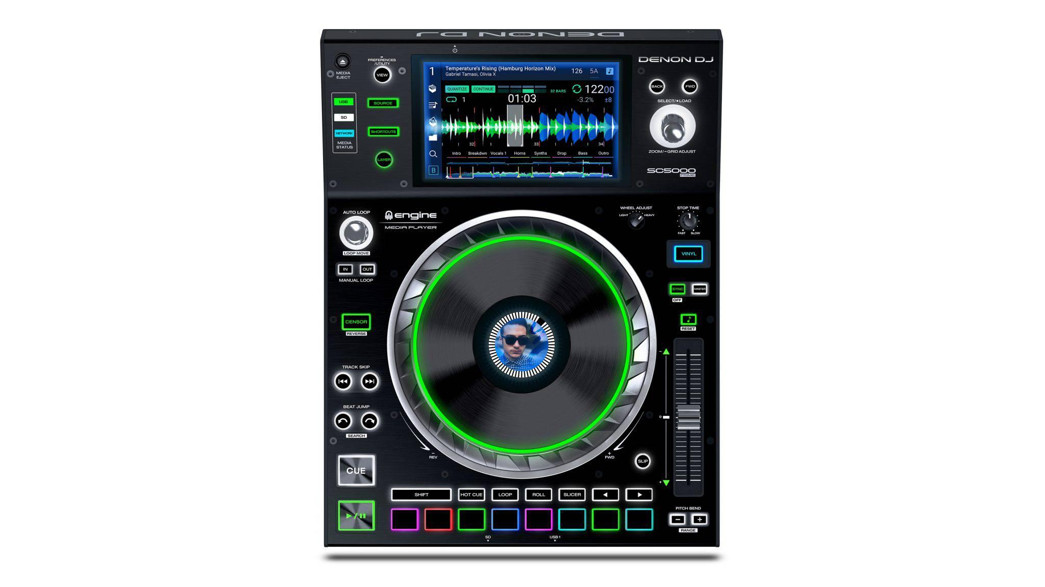 Denon DJ SC5000 Prime - Cel mai avansat media player - vedere de ansamblu