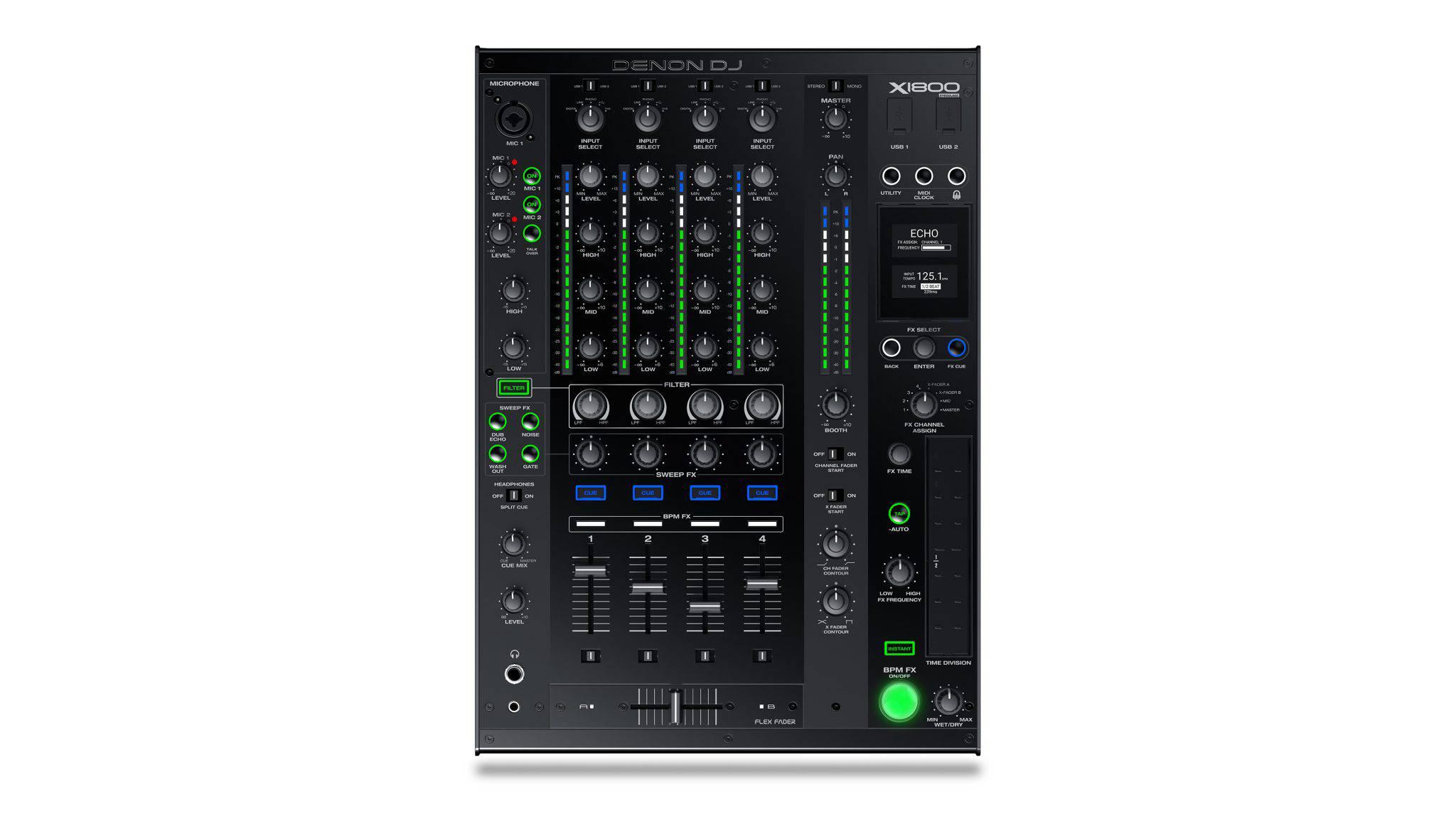Denon DJ X1800 PRIME - Mixer digital cu 4 canale pentru DJ - vedere ansamblu