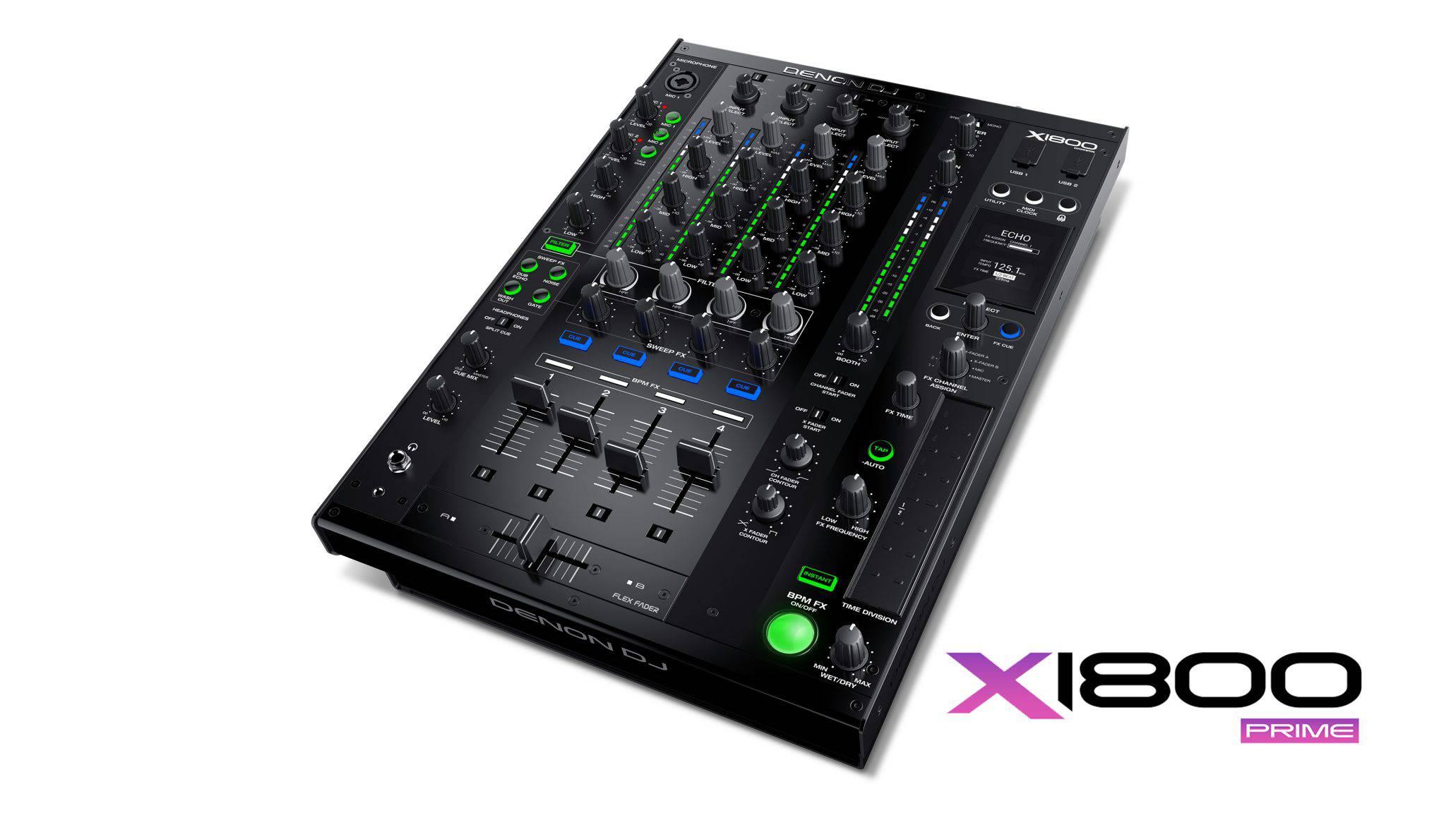 Denon X1800 - Noul mixer digital cu 4 canale din seria PRIME