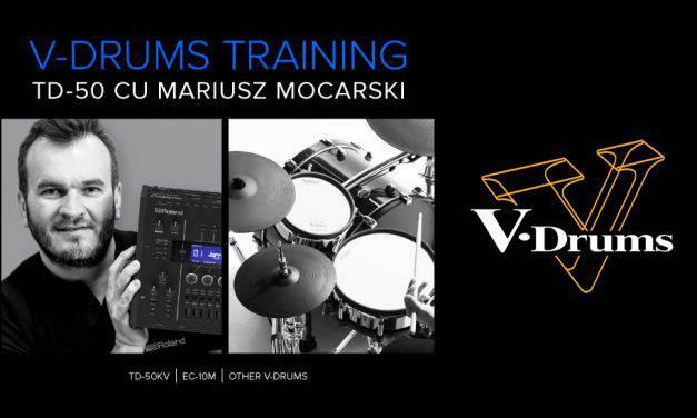 Training Roland V-Drums – Tobele electronice TD-50 cu Mariusz Mocarski la Zeedo Shop