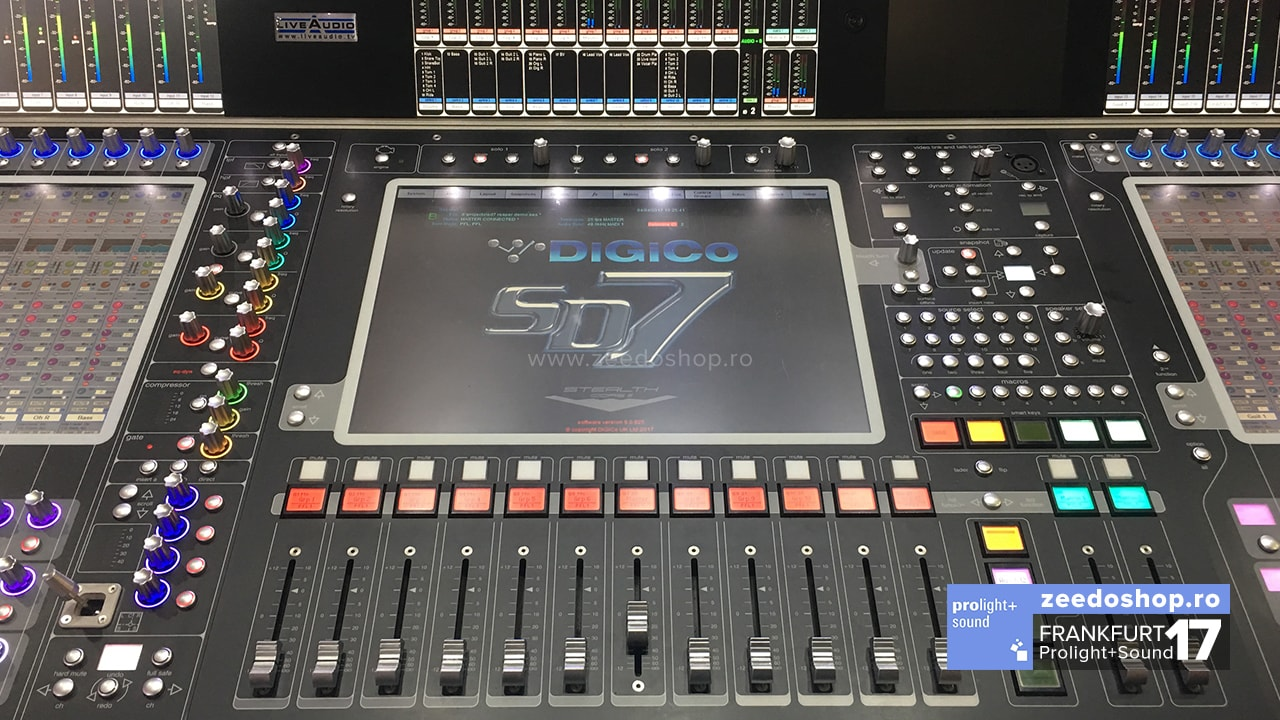 Prolight + Sound 2017 - DiGiCo SD7 - Vedere principala