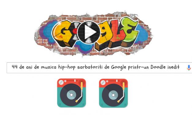 44 de ani de muzica hip-hop sarbatoriti de Google printr-un Doodle inedit