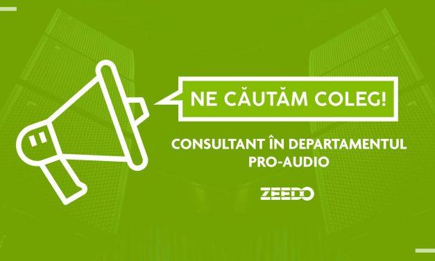 Angajam: Consultant Vanzari in Showroom – Departamentul Pro Audio