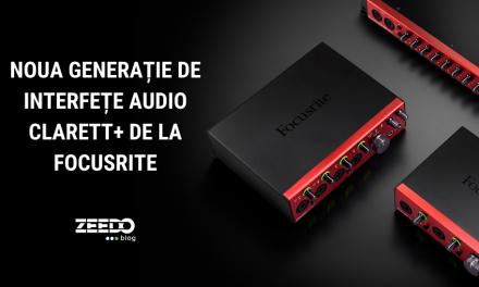 Noua generație de interfețe audio Clarett+ de la Focusrite!